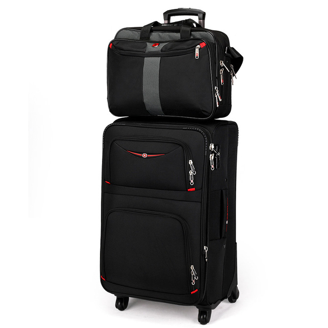 Letrend Business Rolling Luggage Spinner Set Travel Bag