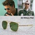 2016 new fashion army military ao piloto 54mm gafas de sol de marca americana óptico lente de cristal gafas de sol gafas de sol masculino