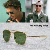 JackJad nouvelle mode armée militaire AO pilote 54mm lunettes De soleil marque américaine optique verre lentille lunettes De soleil Oculos De Sol Masculino