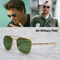 Nueva moda JackJad ejército militar AO Pilot 54mm gafas De Sol marca americana lentes De cristal óptico gafas De Sol masculino