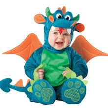 Дракон/ромпер с динозавром дети один костюм животного косплэй формы ребенка осень зима костюмы 0108