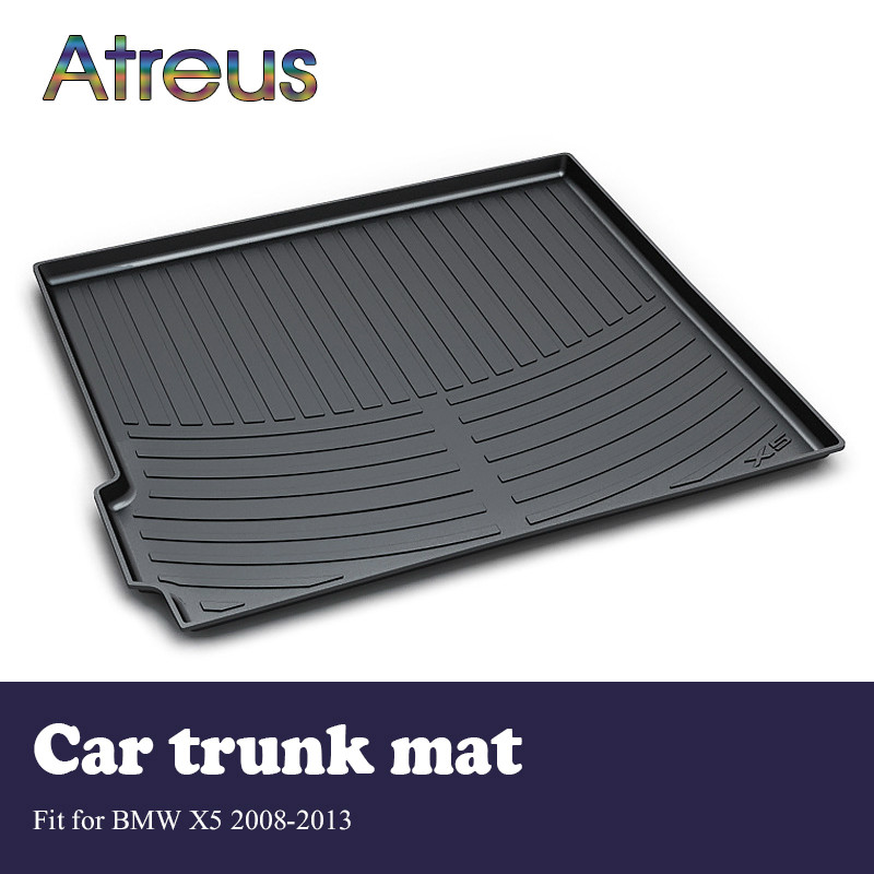 Atreus Car Rear Trunk Floor Mat Durable Carpet For BMW X5 E70 2008-2013 Boot Liner Tray Waterproof Anti-slip mat atreus car rear trunk floor mat durable carpet for toyota corolla e140 e150 2007 2013 boot liner tray waterproof anti slip mat