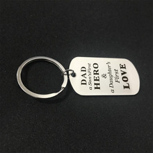 Men's Stainless Steel keyring Fathers Day gifts for dad