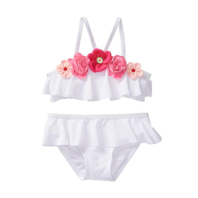 Baby girl swimsuit with tutu-5212