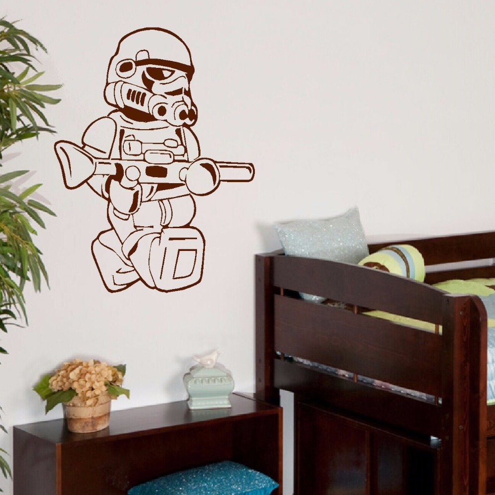 Large star wars lego men storm trooper for children kids bedroom large star wars lego men storm trooper for children kids bedroom wall art sticker vinyl self adhesive transfer decal home decor in wall stickers from home amipublicfo Gallery