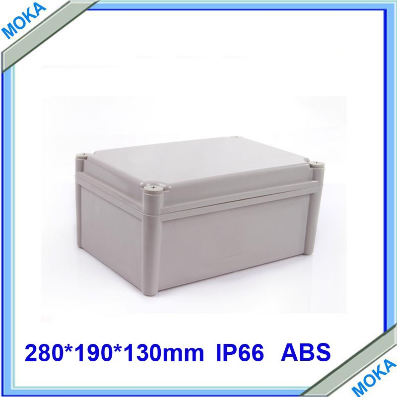 Factory Supply Plastic Enclosure Case sealed junction box 280*190*130mm(L*W*H) 1pcs lot custom processed factory extrusion aluminum material electrical junction box case enclosure 80 h x234 w x250 l mm