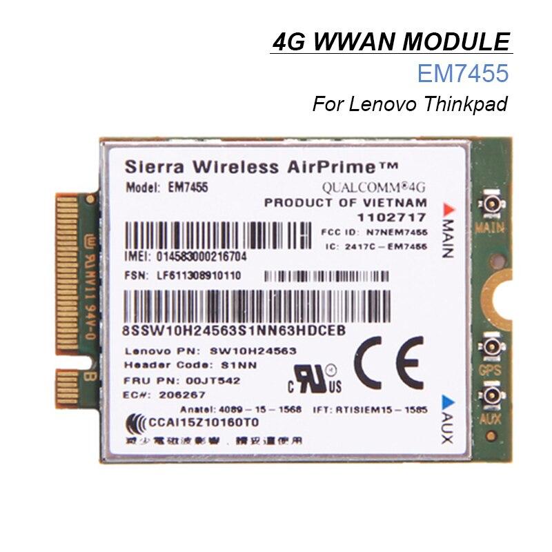 4G LTE WWAN Card for Sierra Wireless Airprime EM7455 Module FRU:00JT542 For Lenovo X260 T460 P50 P70 L560