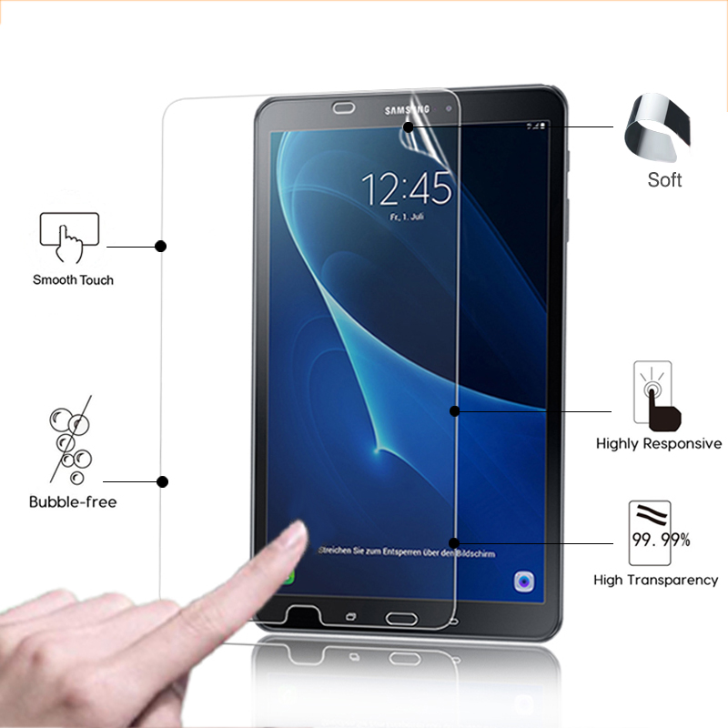 "Anti-scratched Clear Glossy Protector Film For Samsung Galaxy Tab A 10.1 2016 T580 T585 10.1"" Hd Lcd Screen Protective Film Online Discount"