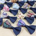 Bowties Casamento de moda para Homens Homens de Algodão Floral Do Vintage Gravata borboleta Gravata Borboleta Impresso para Noivo Fino