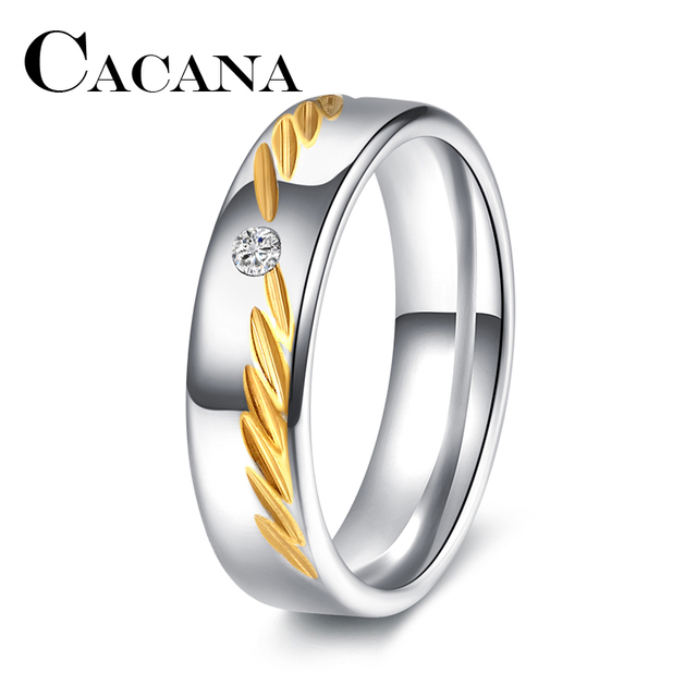 CACANA Titanium 316L Stainless Steel Superman Finger Rings Men's steel RING l Ma