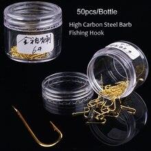 50 шт/бутылки колючие рыболовные крючки из высокоуглеродистой