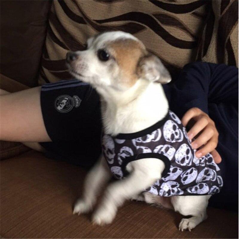 Skull Dog Vest Pet Clothes Coats Puppy Dog Summer Vest Sweatshirt Clothing Dogs Cat Cotton T-shirt Soft Puppy Dogs Clothing17