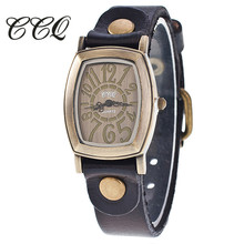 CCQ 2017 Style Informal Relogio Feminino Girls Wrist Watches Classic Cow Leather-based Bracelet Quartz Watches Reward 1905