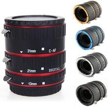 Металлическое Крепление Адаптер для объектива с автофокусом AF макро Удлинительное Кольцо для Canon EOS EF-S объектив 750D 80D 7D T6s 60D 7D 550D 5D Mark IV