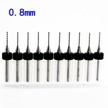 0.8mm 10pcs/lot Carbide Micro Drill Bits CNC PCB Drill Bit Set Broca mini drill