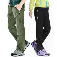 Nylon amovible imperméable randonnée pantalon femmes/hommes séchage rapide pantalon montagne/Camping/Trekking pantalons de plein air Shorts de sport AW003