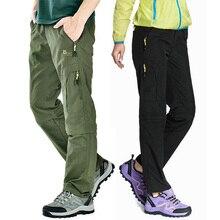 Nylon Abnehmbare Wasserdichte Wandern Hosen Frauen/Männer Schnell Trockene Hosen Berg/Camping/Trekking Outdoor Hosen Sport Shorts AW003