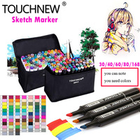 TOUCHNEW Finecolour 168 Colors Watercolor Oily Alcoholic Dual Headed Manga Painting Copic Markers Sketch Set Liners