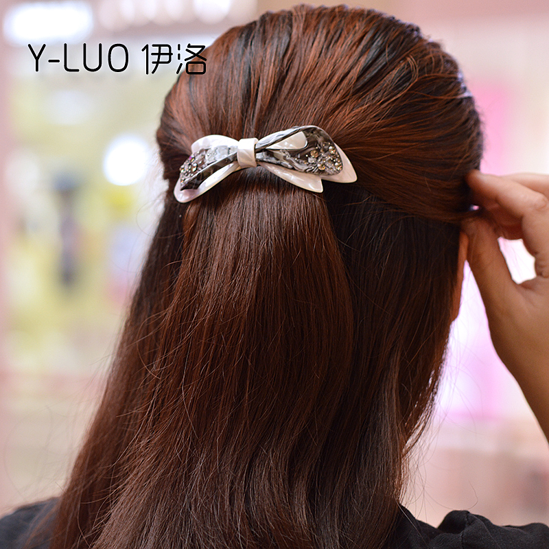 Women headwear 2017 bow hair barrettes Large rhinestone hair clips for girls ponytail hair accessories for women women headwear gift rhinestone hair claw butterfly flower hair clip 5 5cm long middle size bow hair accessories for girls