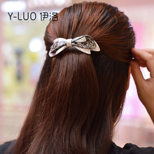 Women headwear 2017 bow hair barrettes Large rhinestone clips for girls ponytail accessories women