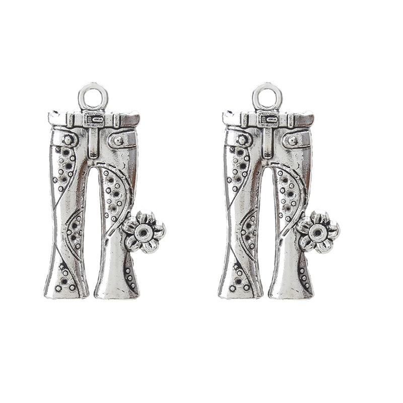 4pcs Hippie Jeans Charm Tibet silver Charms Pendants DIY Jewellery Making crafts