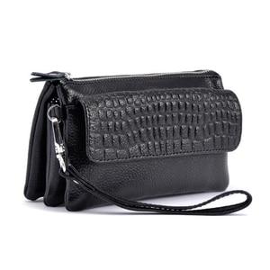 Image 2 - Genuine Leather Clutch Women Long Wallets Women Money Purse Large Capacity Clutch Coin Purse Ladies Wallet Phone Purse Cartera