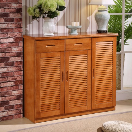 Delightful Shoe Cabinets Shoe Rack Home Furniture Assembly Oak Solid Wood Shoe  Organizer Shutter Two /three