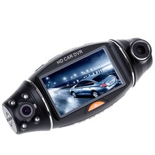 USB 2.0 Interface Type Night vision 2.7 inch R310 HD 1080P Dual Lens Car DVR IR Night Vision Rear View Camera Recorder hot sale
