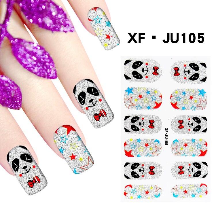 JU105 1 Sheet Fashion Design Nail Polish Sticker Full Cover Nail Art ...