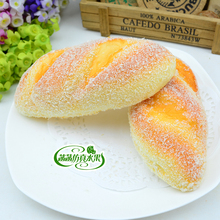 High artificial bread sandwich pineapple bag hamburger fake bread combination set model kitchen cabinet decoration kitchen plastic pineapple style bread mold coffee