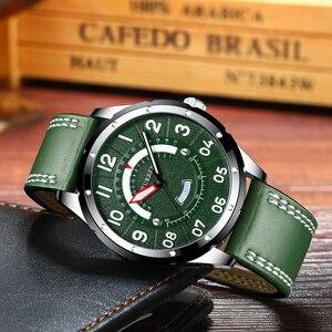 Image 4 - CURRENนาฬิกาข้อมือนาฬิกาผู้ชายแฟชั่นนาฬิกาหนังผู้ชายนาฬิกาปฏิทินวันที่นาฬิกาควอตซ์ชายนาฬิกาCasual