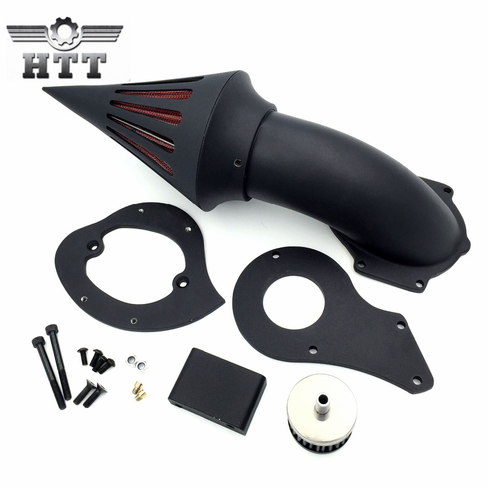 Aftermarket motorcycle parts Spike Air Cleaner Kits intake filter for Honda Shadow 600 VLX600 1999-2012 BLACK chrome aluminum motorcycle spike air cleaner intake filter case for honda shadow vlx600 vt600cd deluxe 1999 up