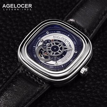 2017 Agelocer Watch Mens Mechanical Wristwatches Luminous  Watchband Sports Watches for Men herenhorloges