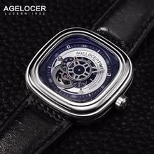 2017 Agelocer Watch Mens Mechanical Wristwatches Luminous  Watchband Sports Watches for Men herenhorloges