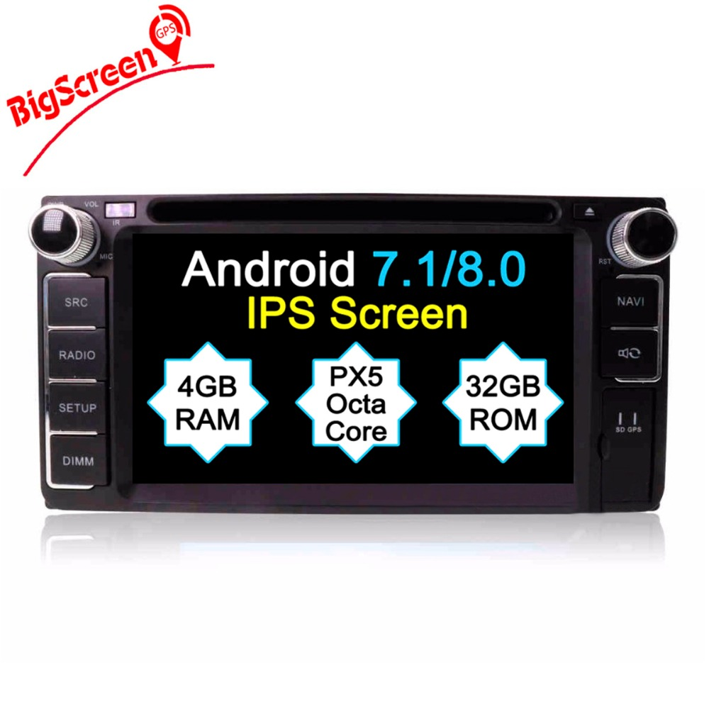Discount Android8.0 7.1 System Octa 8 Core Car DVD Player GPS Navigation For Most of Toyota Car Headunit Multimedia Autoradio Monitor 0