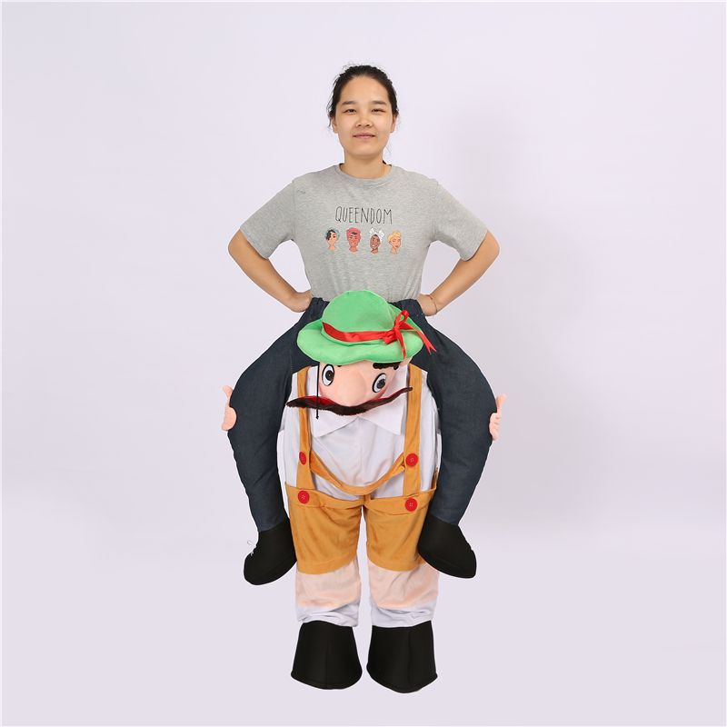 Mignon bûcheron pantalon drôle Cosplay habiller monter sur moi mascotte Costumes de fête porter nouveauté Halloween fête jouets de plein air