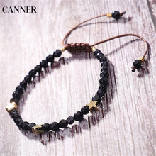 Canner Natural Stone Beads Bracelet Handmade Crystal With Star Bracelets&Bangles Adjustable Jewelry Women wholesale blue natural crystal bracelets 6mm beads with pink magnolia flower pendant crystal bracelet for women fresh jewelry