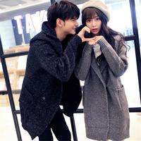 DoreenBow Autumn Winter Couple Top Knitted Sweaters Women Men Long Sleeve Open Stitch Covered Button Outerwear