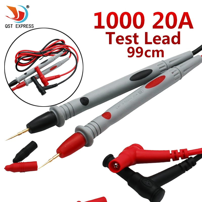 2pcs/1lot Digital Multimeter Universal 1000V 20A Test Lead Probe Cable SMD SMT Needle Tip