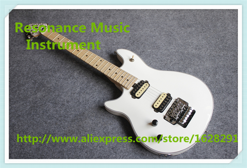 New Arrival Glossy White Finish Left Handed Wolfgang EVH Electric Guitars With Chrome Floyd Rose Tremolo For Sale new arrival matte black finish wolfgang evh electric guitars chinese solid guitar body