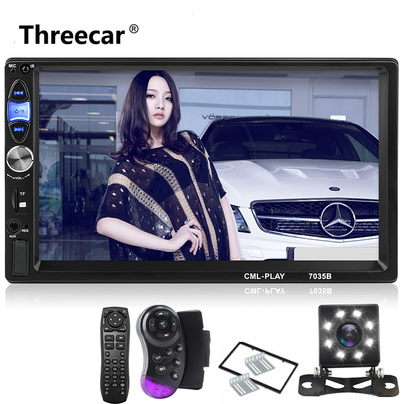 New 7'' 2 Din Car Multimedia Player Universal Bluetooth Car Radio Touch Screen Stereo Audio Player Support Android Mirror Link