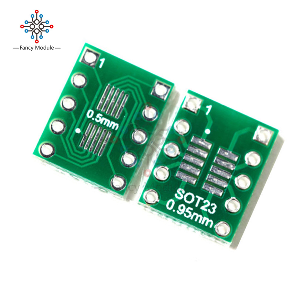 10PCS IC SOT23 SSOP10 MSOP10 UMAX to 0.5/0.95mm DIP Adapter PCB Board Converter цены