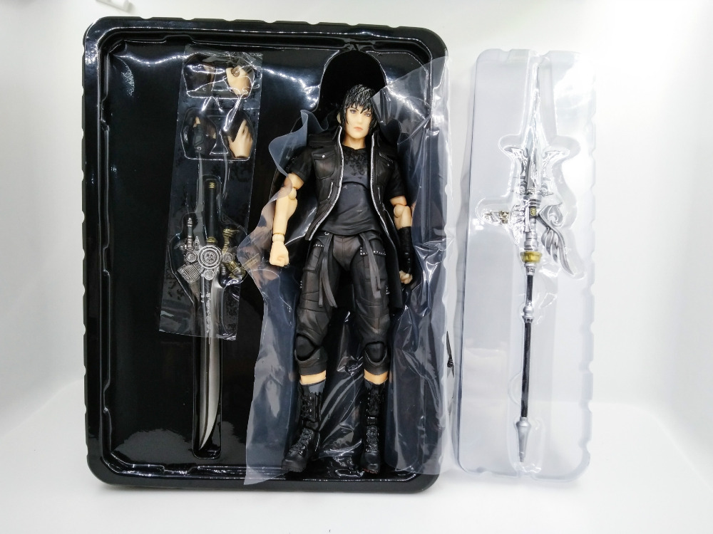 Anime Figure 25CM Fantasy XV FF15 Noctis Lucis Caelum PVC Action Figure Collectible Model Toys Doll with box playarts kai final fantasy xv ff15 noctis lucis caelum pvc action figure collectible model toy 25cm kt3128