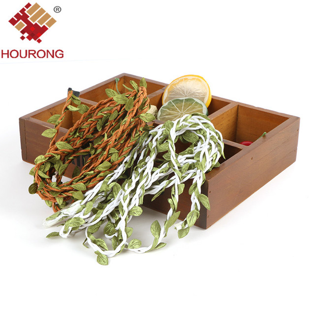 Hourong 2 Meters DIY Strings With Leaf Wreath Wedding Decoration Centerpieces Rustic Decor
