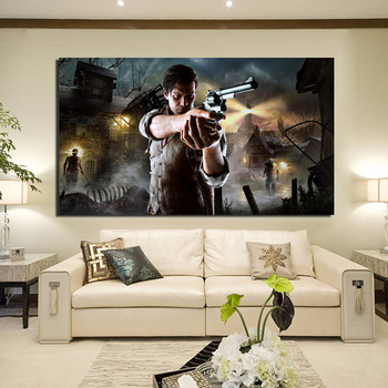 Resident Evil Within Sebastian Castellanos Canvas Painting Prints Bedroom Home Decoration Modern Wall HD Art Painting Posters