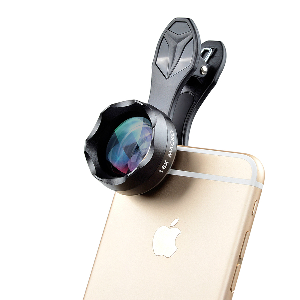 Super <font><b>18X</b></font> Macro <font><b>Lens</b></font> Professional Mobile Phone Camera <font><b>Lenses</b></font> with Universal Clip for IPhone Samsung Xiaomi HTC Smartphone image