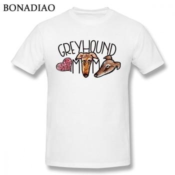 Greyhound Dog Graphic T-Shirt Men Soft Short Sleeve Cute Pet Custom T Shirt