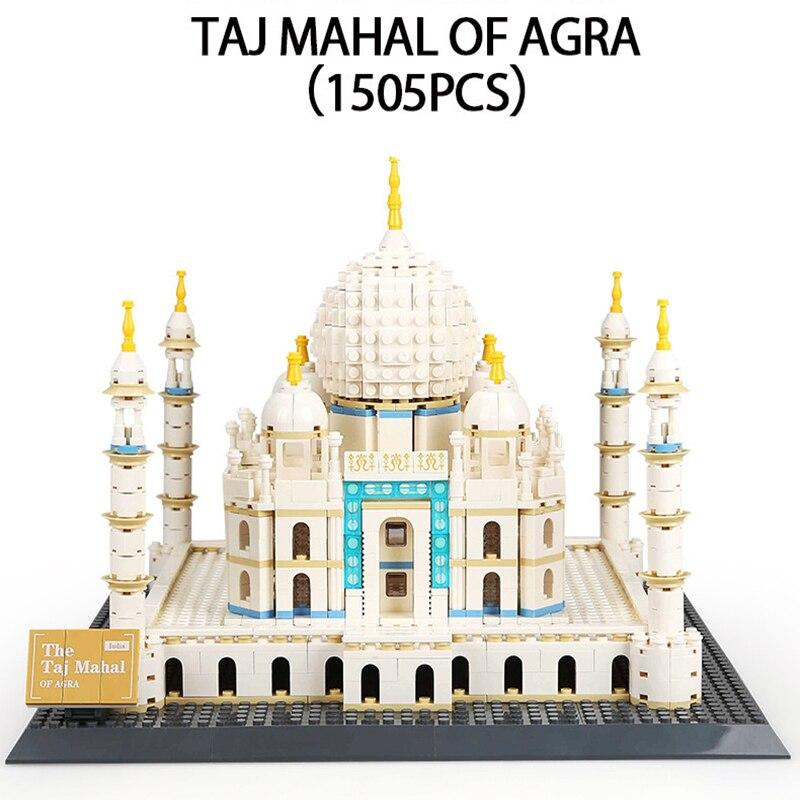 Legoed ville Lepin Architecture Série Le Taj Mahal d'agra blocs de construction Briques modèle kits De Jouets Pour Les Enfants avec 10189 17008