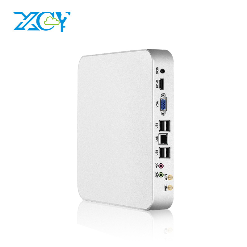 XCY Mini PC Intel Celeron N3160 Fanless Quad Core Windows 10 Mini Desktop PC HDMI VGA 300M WiFi TV BOX HTPC NUC thin client mini itx computer intel celeron n3150 14nm quad core dual hdmi vga 1 rs232 4 usb3 0 300m wifi window 10 mini pc