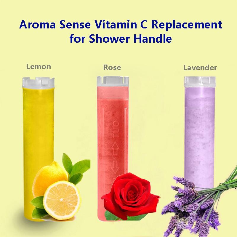 ZhangJi Aroma Scent Filter Replacement Of Shower Head Handhold Vitamin C Lemon Rose Lavender Cartridge Filter Water Skin Care